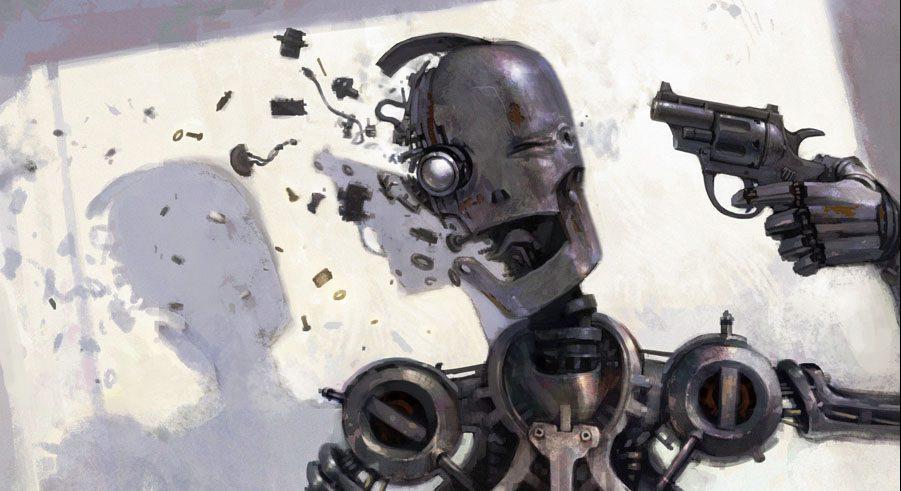 Resultado de imagen para robot suicide gun